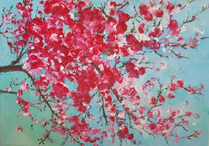 Blütenzweig   Acryl auf Leinwand   50 x 70 cm